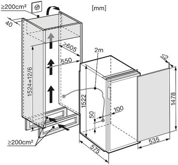 miele k 35543 55 edf droite r frig rateurs encastrables largeur standard de sms 55 cm. Black Bedroom Furniture Sets. Home Design Ideas