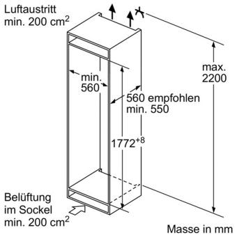 bosch kin86ad30 combinaison r frig rateur cong lateur encastrables largeur standard de eu 60. Black Bedroom Furniture Sets. Home Design Ideas