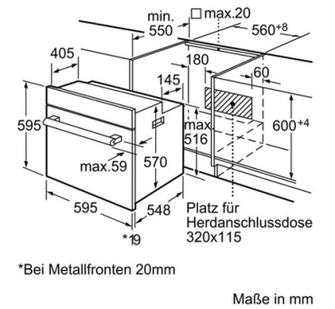 bosch hea20b261c schwarz g nstig kaufen back fen herde euro norm breite 60 cm bis h he. Black Bedroom Furniture Sets. Home Design Ideas