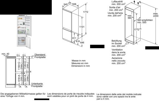 siemens ki87sad30h combinaison r frig rateur cong lateur. Black Bedroom Furniture Sets. Home Design Ideas
