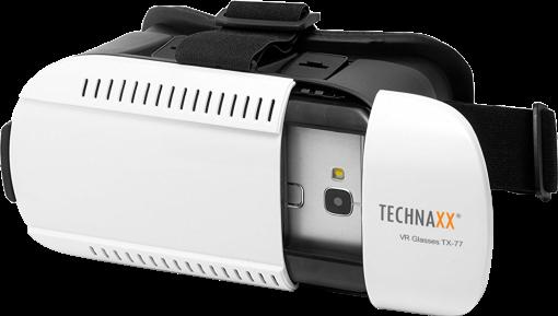 technaxx tx 77 virtual reality brille 3d schwarz weiss g nstig kaufen mobiltelefon vr. Black Bedroom Furniture Sets. Home Design Ideas