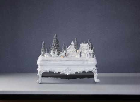 star trading glasgow led weihnachtszene plastik weiss g nstig kaufen. Black Bedroom Furniture Sets. Home Design Ideas