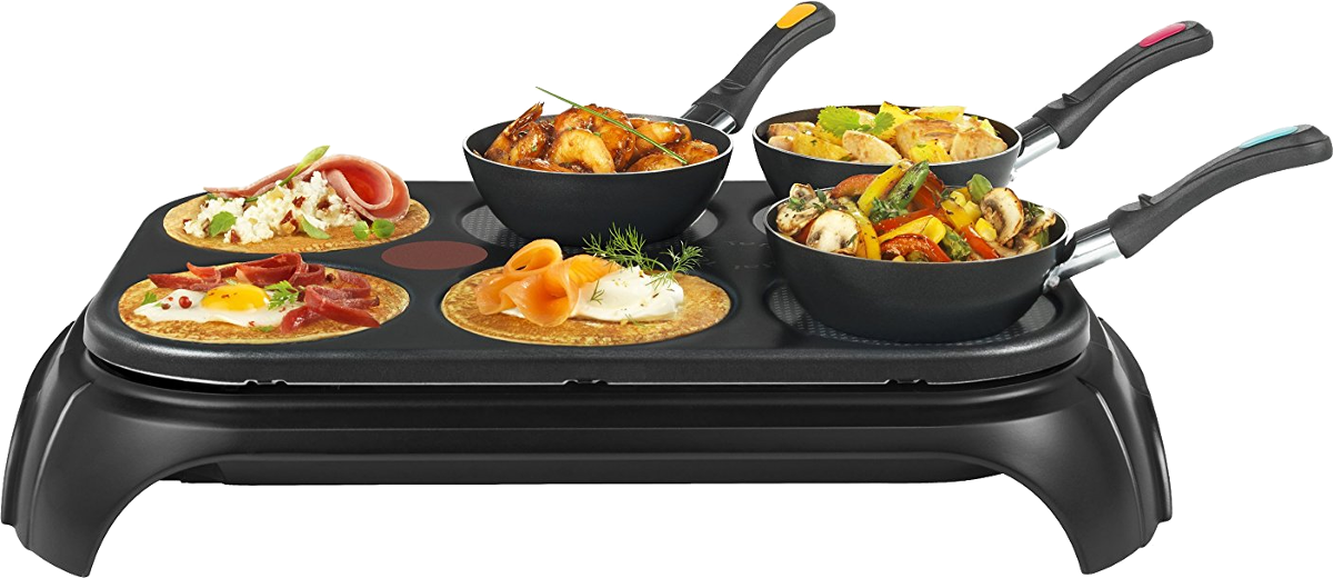 tefal inox design py5828 wokparty 6 g nstig kaufen kombi raclettegrill media markt online shop. Black Bedroom Furniture Sets. Home Design Ideas