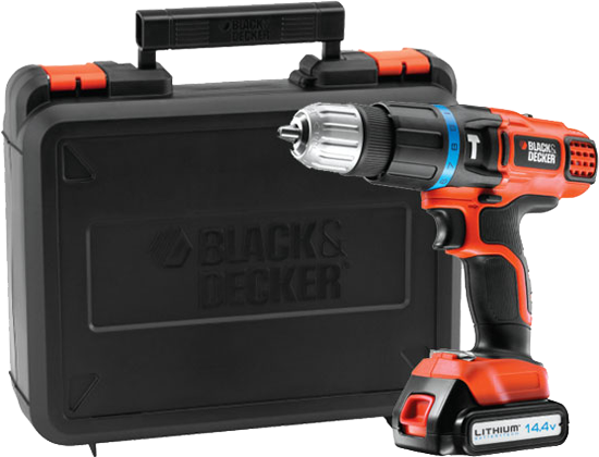 black decker egbl148k schlagbohrmaschine 14 4 volt orange schwarz g nstig kaufen akku. Black Bedroom Furniture Sets. Home Design Ideas
