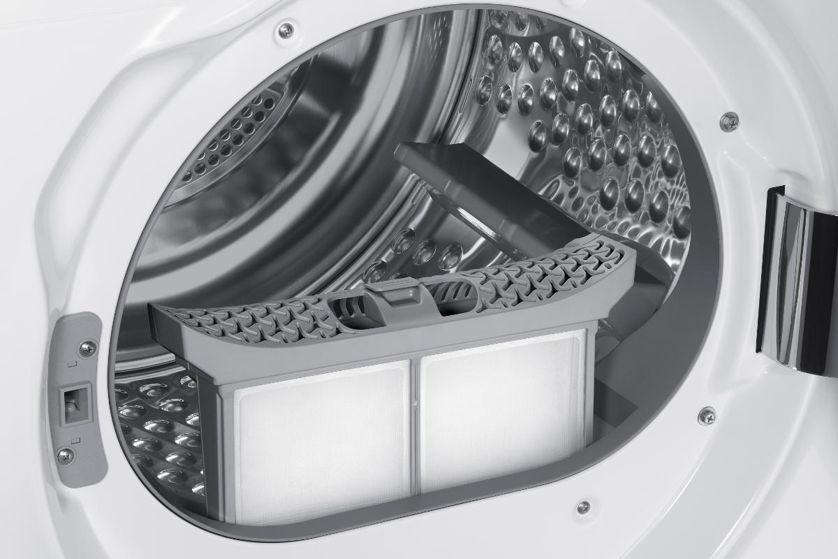 Samsung dv80m8214aw ws s che linge capacit de charge 8 kg blanc s che linge avec pompe - Seche linge avec pompe a chaleur ...