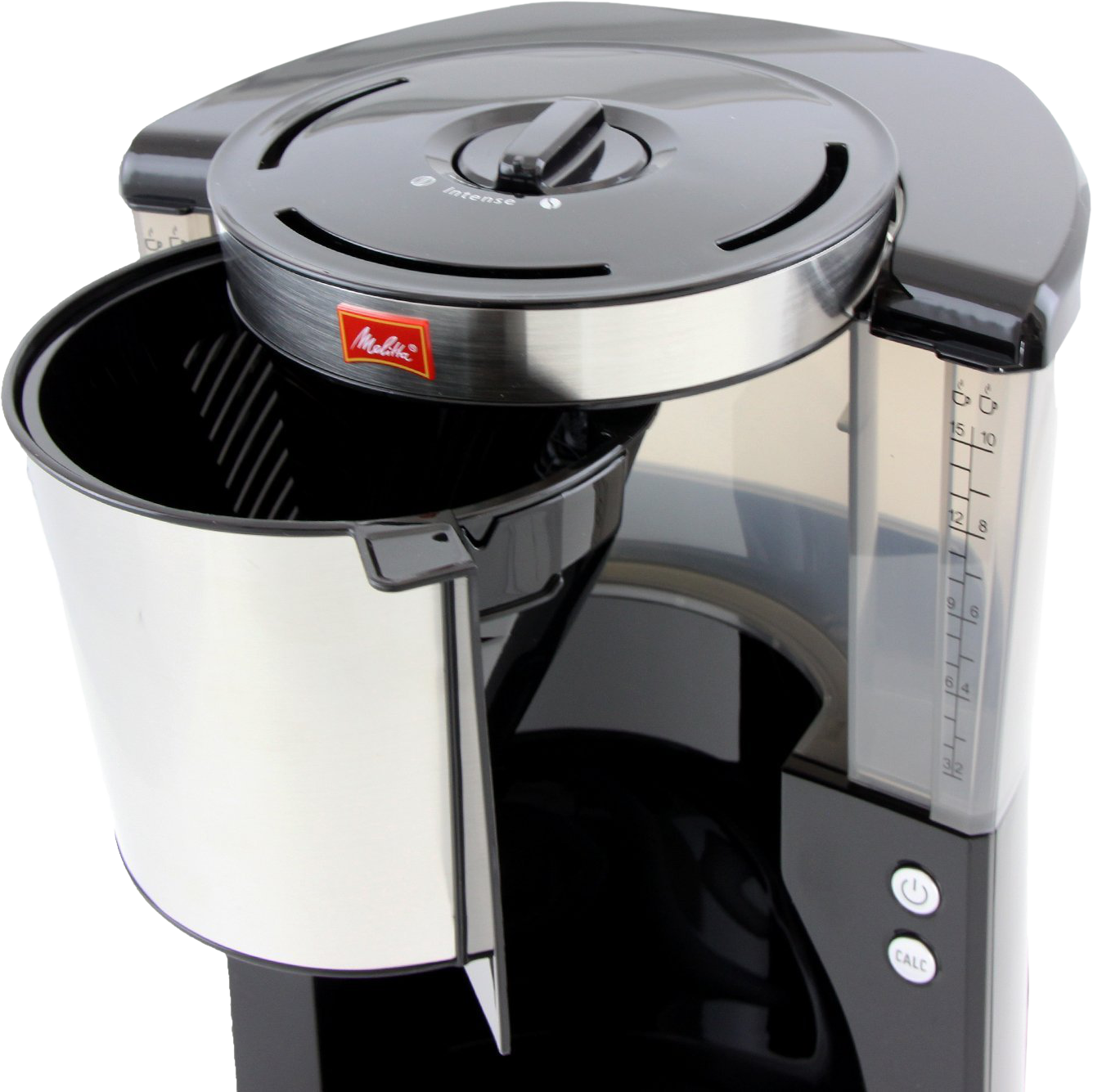melitta look therm deluxe machine caf filtre l noir inox machines de filtrage. Black Bedroom Furniture Sets. Home Design Ideas
