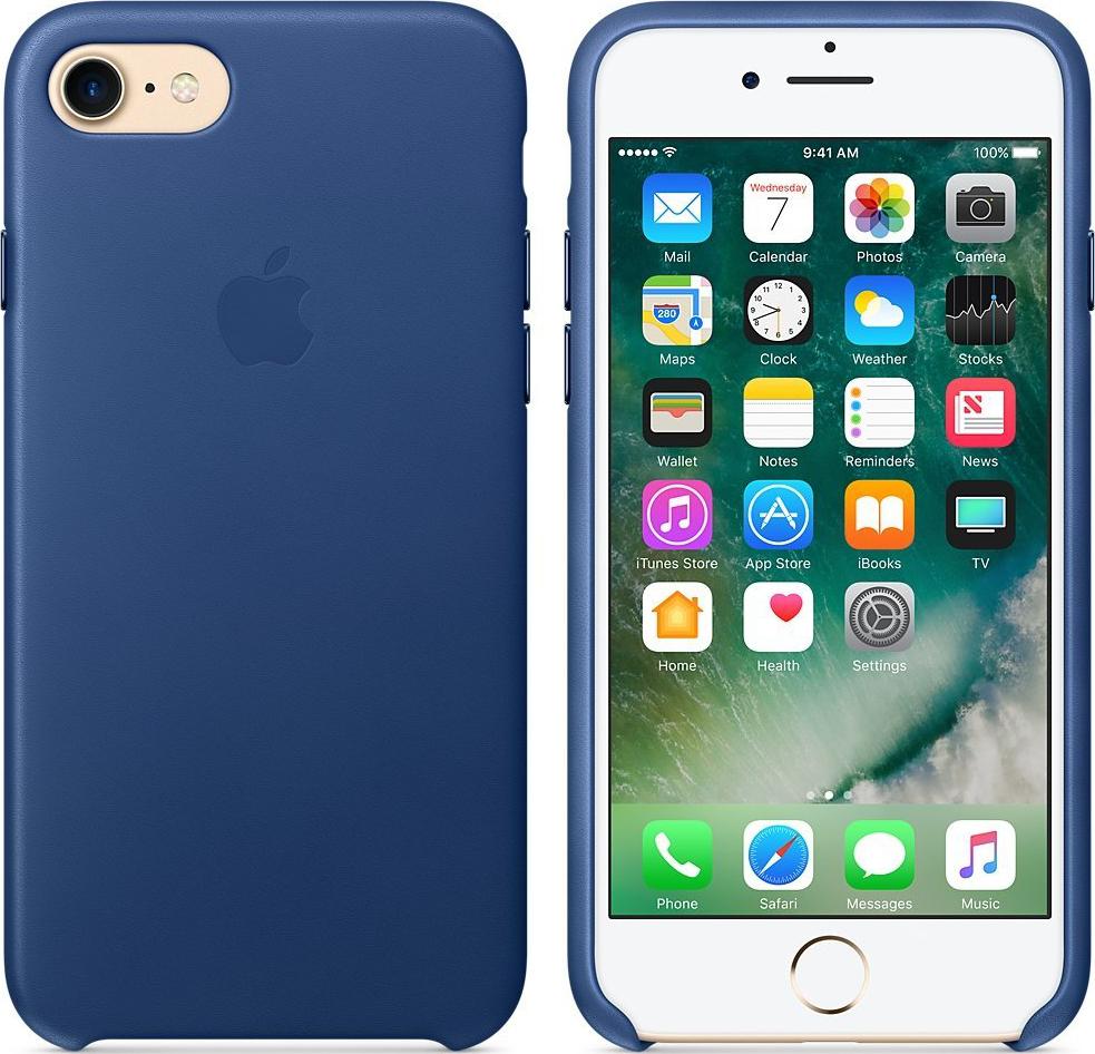 apple iphone 7 leder case dunkelblau g nstig kaufen. Black Bedroom Furniture Sets. Home Design Ideas