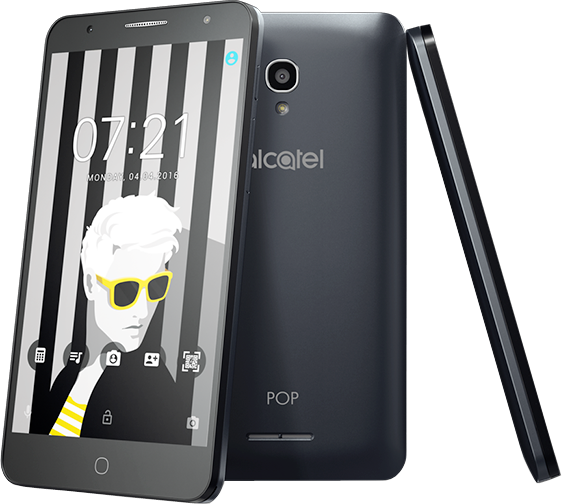 alcatel pop 4 plus android smartphone 16 gb grau. Black Bedroom Furniture Sets. Home Design Ideas