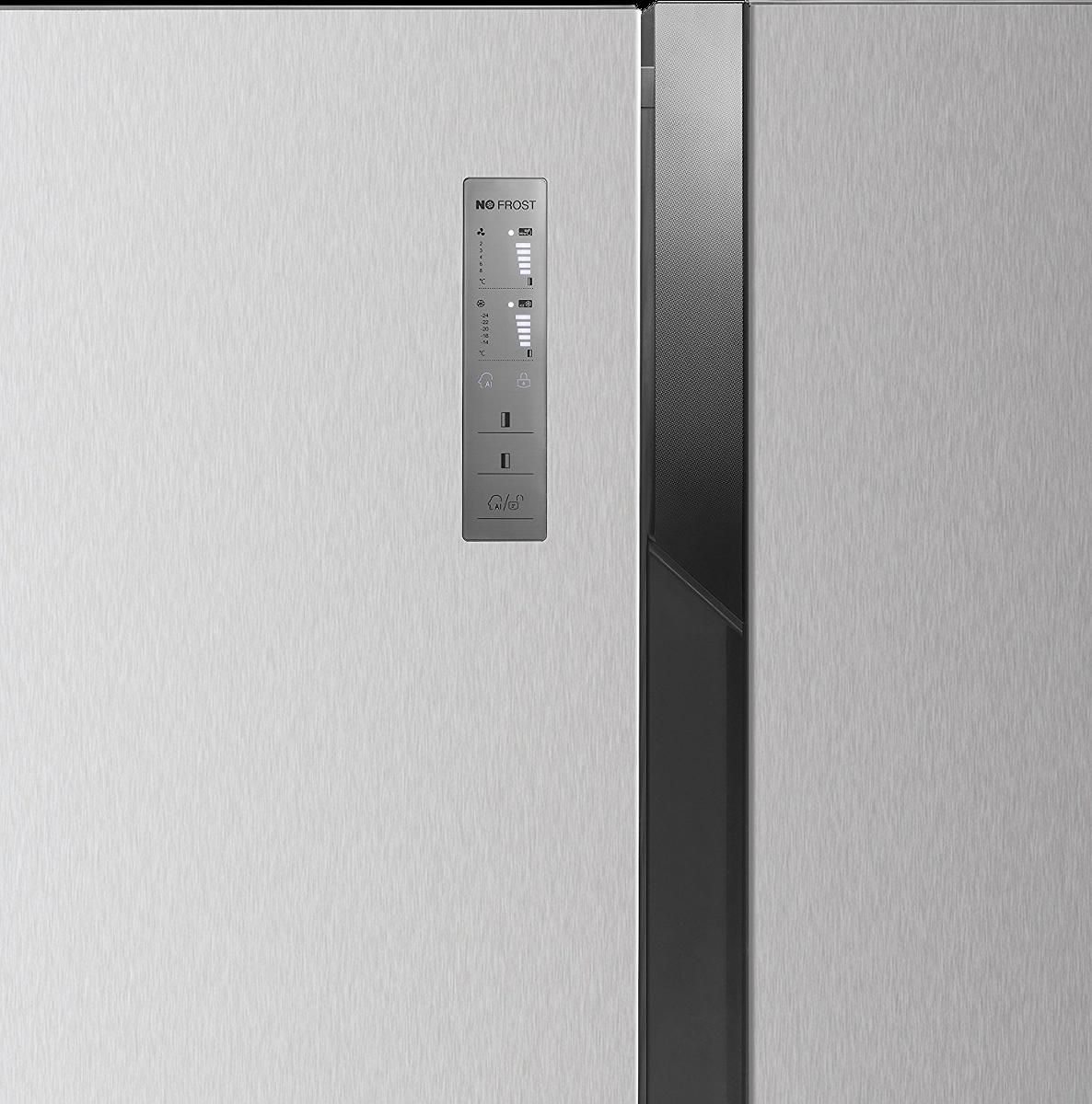 hisense sbs 518 a el side by side k hlschrank energieeffizienzklasse a edelstahl g nstig. Black Bedroom Furniture Sets. Home Design Ideas