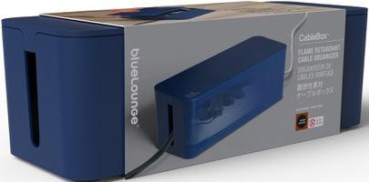 bluelounge cablebox dunkelblau g nstig kaufen kabelrollen boxen media markt online shop. Black Bedroom Furniture Sets. Home Design Ideas