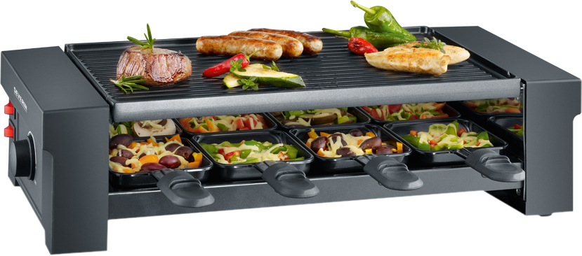 severin rg 2687 pizza raclette grill 1150 w schwarz g nstig kaufen kombi raclettegrill. Black Bedroom Furniture Sets. Home Design Ideas
