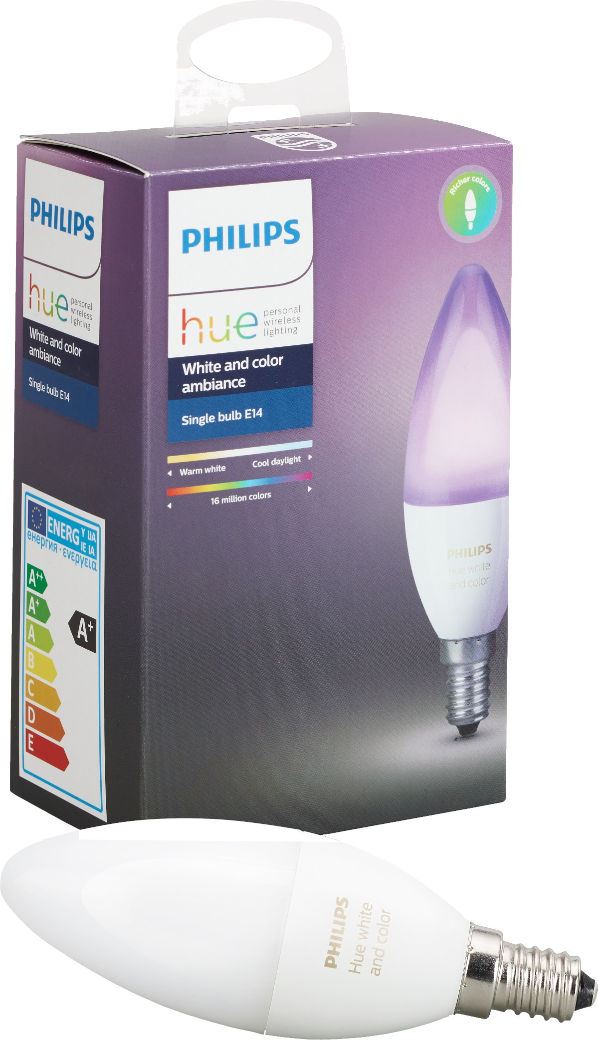 philips hue e14 erweiterung rgbw 1 st ck weiss und. Black Bedroom Furniture Sets. Home Design Ideas
