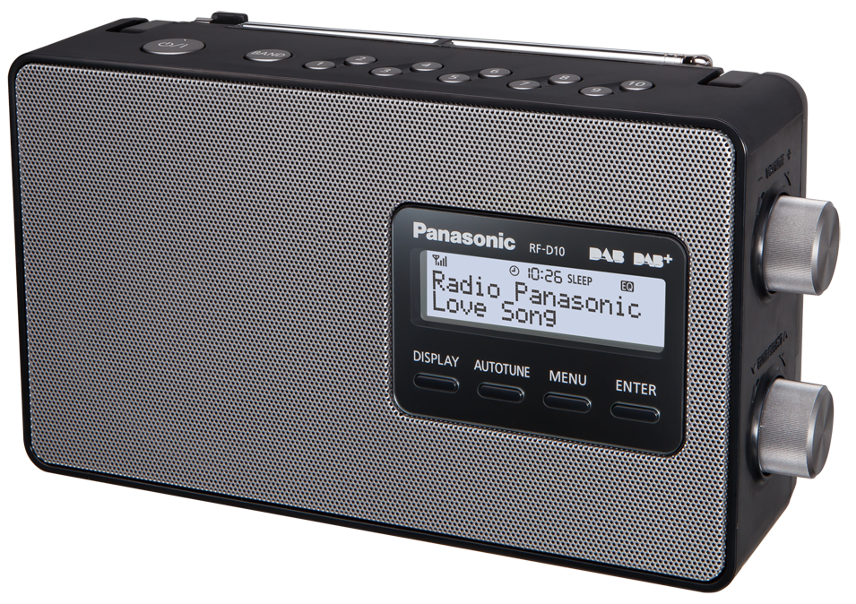 panasonic rf d10eg schwarz g nstig kaufen dab radio. Black Bedroom Furniture Sets. Home Design Ideas