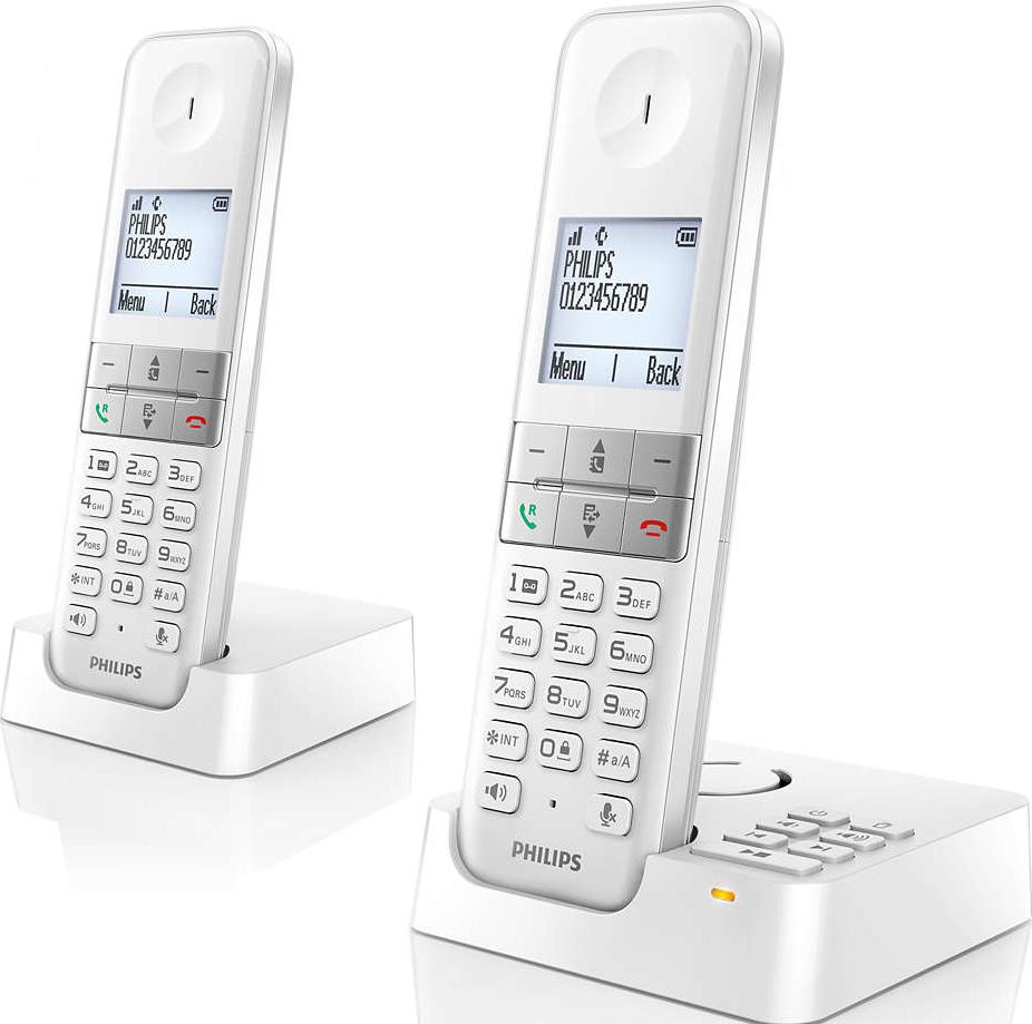 philips d4552w 38 schnurlostelefon mit anrufbeantworter. Black Bedroom Furniture Sets. Home Design Ideas