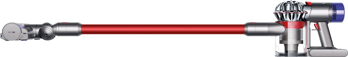 dyson v8 absolute extra aspirateur sans fil 425 watts rouge argent aspirateurs balais. Black Bedroom Furniture Sets. Home Design Ideas