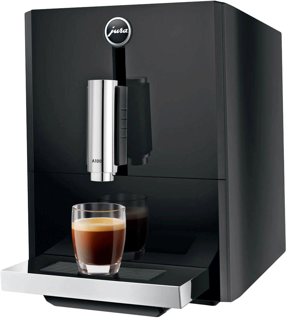 jura a100 piano black g nstig kaufen jura kaffeevollautomaten media markt online shop. Black Bedroom Furniture Sets. Home Design Ideas
