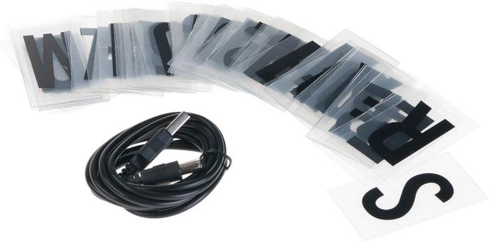 vegas lights message box lichtkasten mit 90 buchstaben und symbole schwarz weiss g nstig. Black Bedroom Furniture Sets. Home Design Ideas
