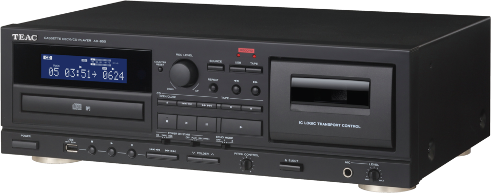 teac ad 850 cd player mit kassettendeck schwarz. Black Bedroom Furniture Sets. Home Design Ideas