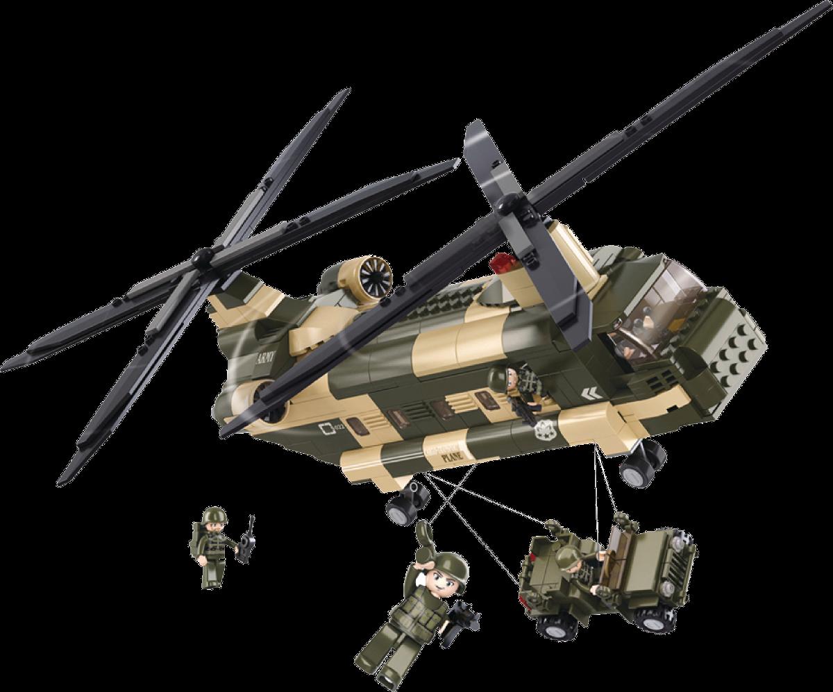 Elicottero Trasporto : Sluban costruzioni army serie elicottero da trasporto