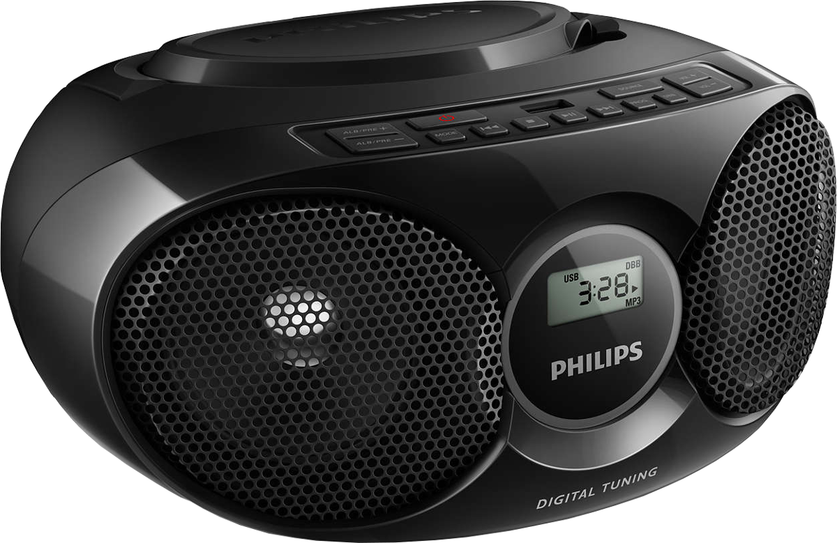 philips az318b 12 cd player usb schwarz g nstig. Black Bedroom Furniture Sets. Home Design Ideas
