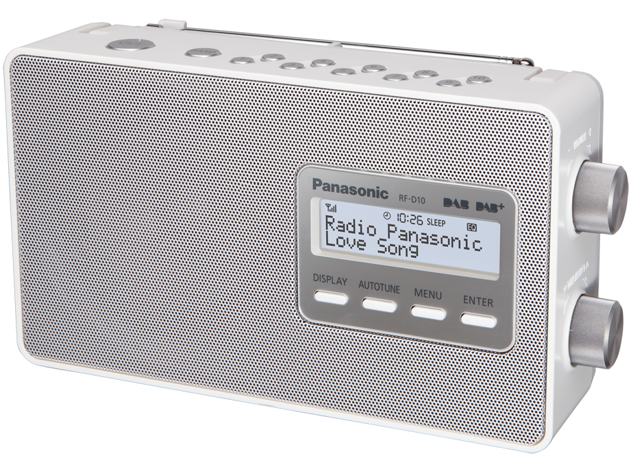 panasonic rf d10eg blanc dab radio acheter bas prix. Black Bedroom Furniture Sets. Home Design Ideas