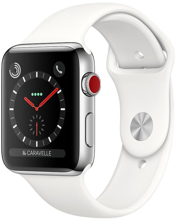 apple watch series 3 bo tier en acier inoxydable avec. Black Bedroom Furniture Sets. Home Design Ideas