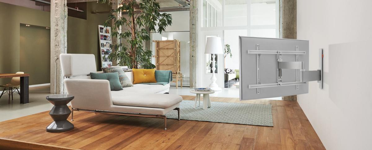 vogel 39 s wall 3345 weiss g nstig kaufen schwenkbar media markt online shop. Black Bedroom Furniture Sets. Home Design Ideas