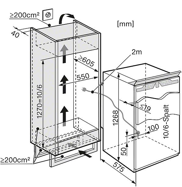 miele k 34543 55 if gauche r frig rateurs encastrables largeur standard de sms 55 cm. Black Bedroom Furniture Sets. Home Design Ideas