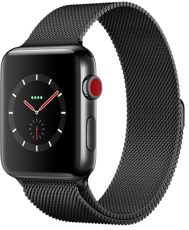 apple watch series 3 bo tier en acier inoxydable noir. Black Bedroom Furniture Sets. Home Design Ideas