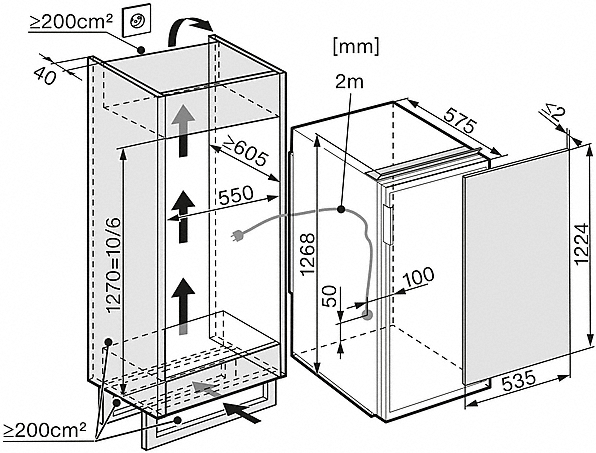 miele k 34543 55 ef gauche r frig rateurs encastrables largeur standard de sms 55 cm. Black Bedroom Furniture Sets. Home Design Ideas