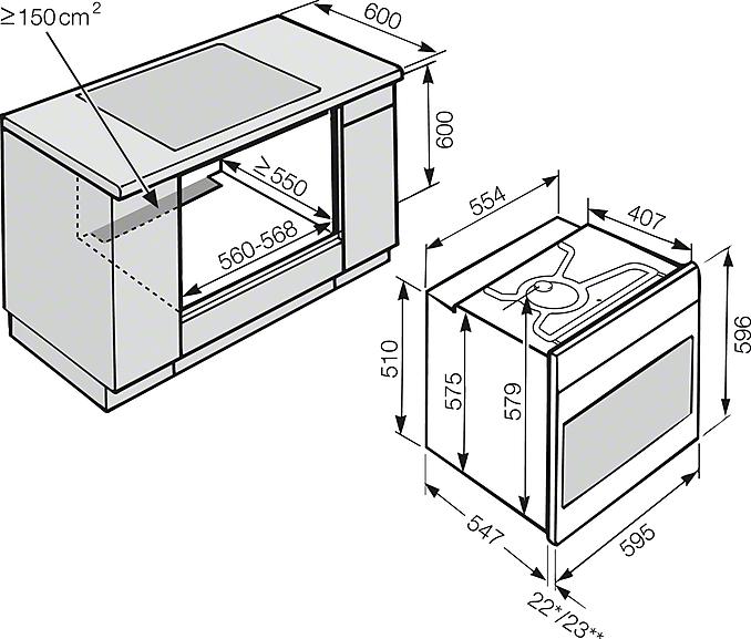 miele h 6460 bp edelstahl g nstig kaufen back fen herde euro norm breite 60 cm bis h he. Black Bedroom Furniture Sets. Home Design Ideas