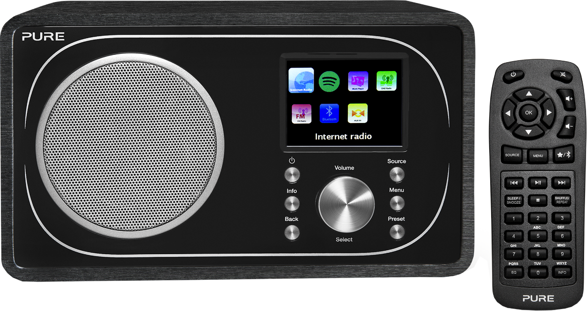 pure digital evoke f3 internet radio bluetooth. Black Bedroom Furniture Sets. Home Design Ideas