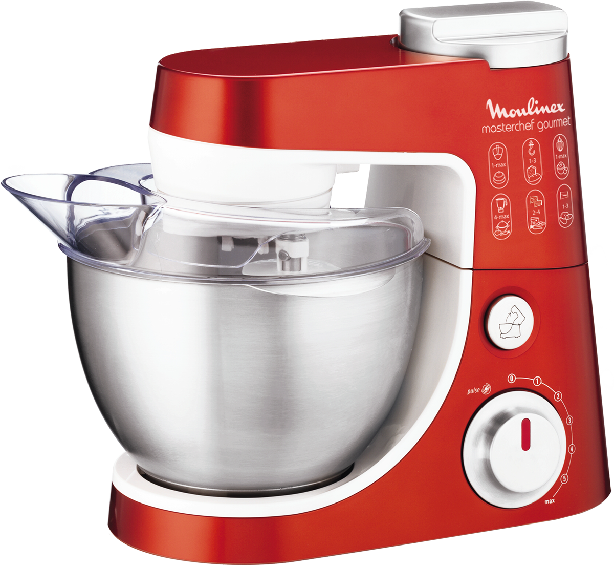Moulinex masterchef gourmet plus xmas edition robot de for Ustensile de cuisine rouge