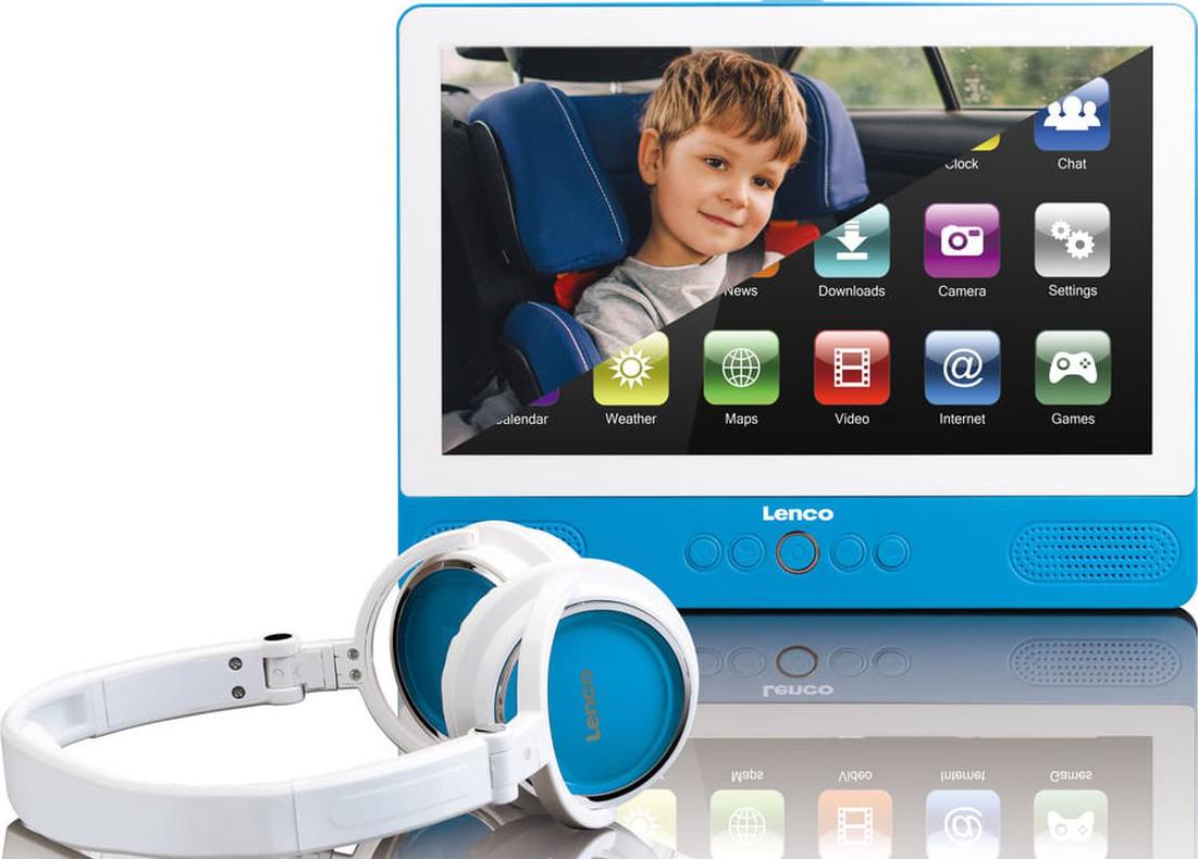 lenco tdv 900 tragbarer dvd player mit tablet funktion. Black Bedroom Furniture Sets. Home Design Ideas