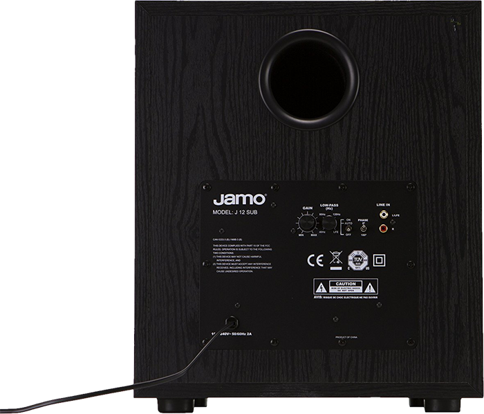 jamo j 12 sub subwoofer 12 zoll schwarz g nstig. Black Bedroom Furniture Sets. Home Design Ideas