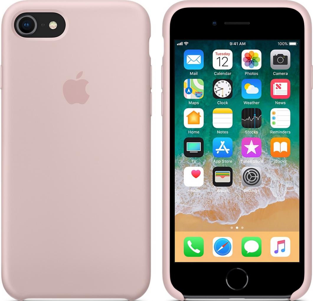 apple silikon case f r iphone 7 8 pink g nstig kaufen. Black Bedroom Furniture Sets. Home Design Ideas