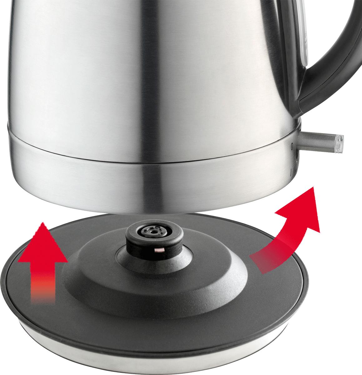 trisa bouilloire 1 2 litre 1850 2200 watt arr t automatique acier inox chauffe eau. Black Bedroom Furniture Sets. Home Design Ideas