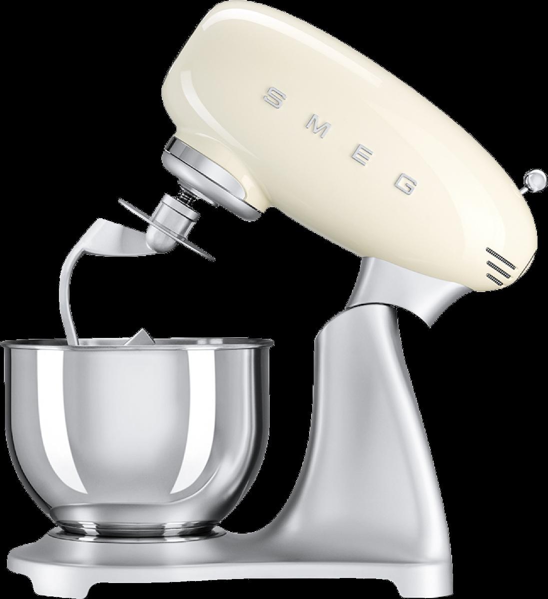 Smeg 50 39 s retro style robot sur socle 4 8 l cr me for Ustensiles de cuisine retro