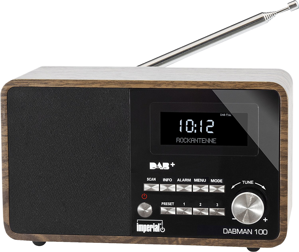 imperial dabman 100 mono radio dab fm braun. Black Bedroom Furniture Sets. Home Design Ideas