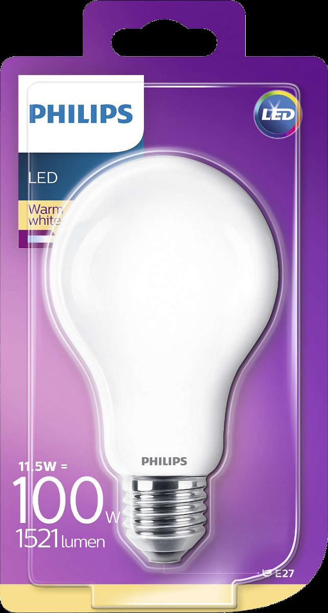 philips 929001802701 led lampe 11 5 w weiss g nstig kaufen e27 leuchtmittel media. Black Bedroom Furniture Sets. Home Design Ideas