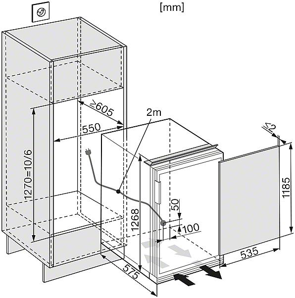 miele k 34542 55 ef gauche r frig rateurs encastrables largeur standard de sms 55 cm. Black Bedroom Furniture Sets. Home Design Ideas