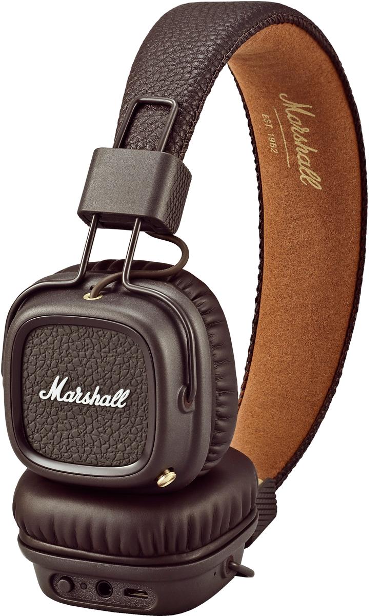 marshall major ii bt casque sans fil bluetooth brun. Black Bedroom Furniture Sets. Home Design Ideas