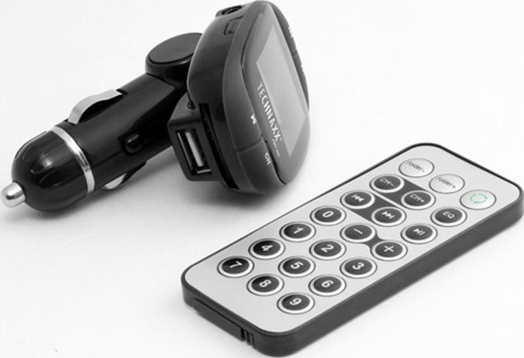 technaxx fm t500 fm transmitter schwarz g nstig kaufen. Black Bedroom Furniture Sets. Home Design Ideas
