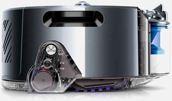 dyson 360 eye roboterstaubsauger kettenr der silber g nstig kaufen roboter staubsauger. Black Bedroom Furniture Sets. Home Design Ideas