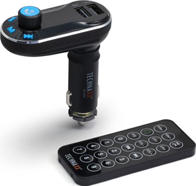technaxx fm t600bt fm transmitter bluetooth schwarz. Black Bedroom Furniture Sets. Home Design Ideas