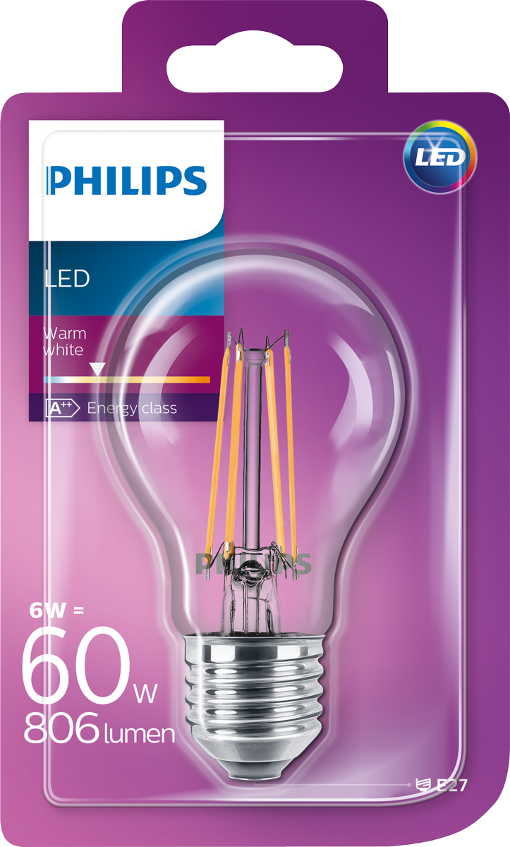 philips e27 6w led leuchtmittel warmweisses licht. Black Bedroom Furniture Sets. Home Design Ideas
