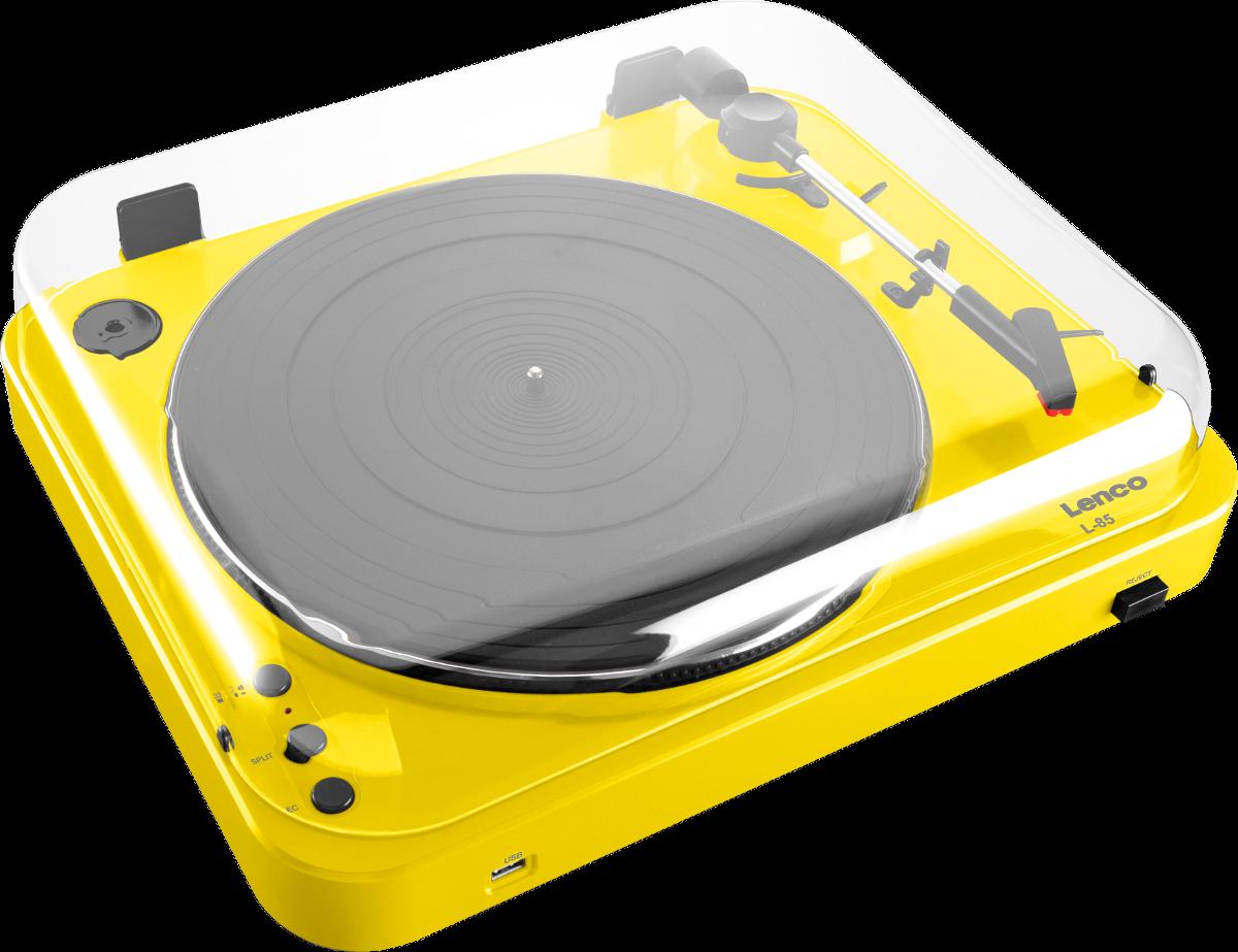 lenco l 85 gelb g nstig kaufen plattenspieler media. Black Bedroom Furniture Sets. Home Design Ideas