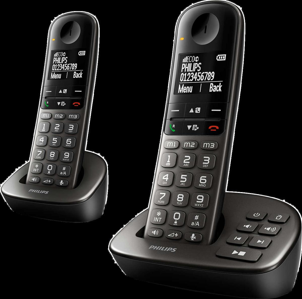 philips xl495 t l phone fixe sans fil avec r pondeur. Black Bedroom Furniture Sets. Home Design Ideas