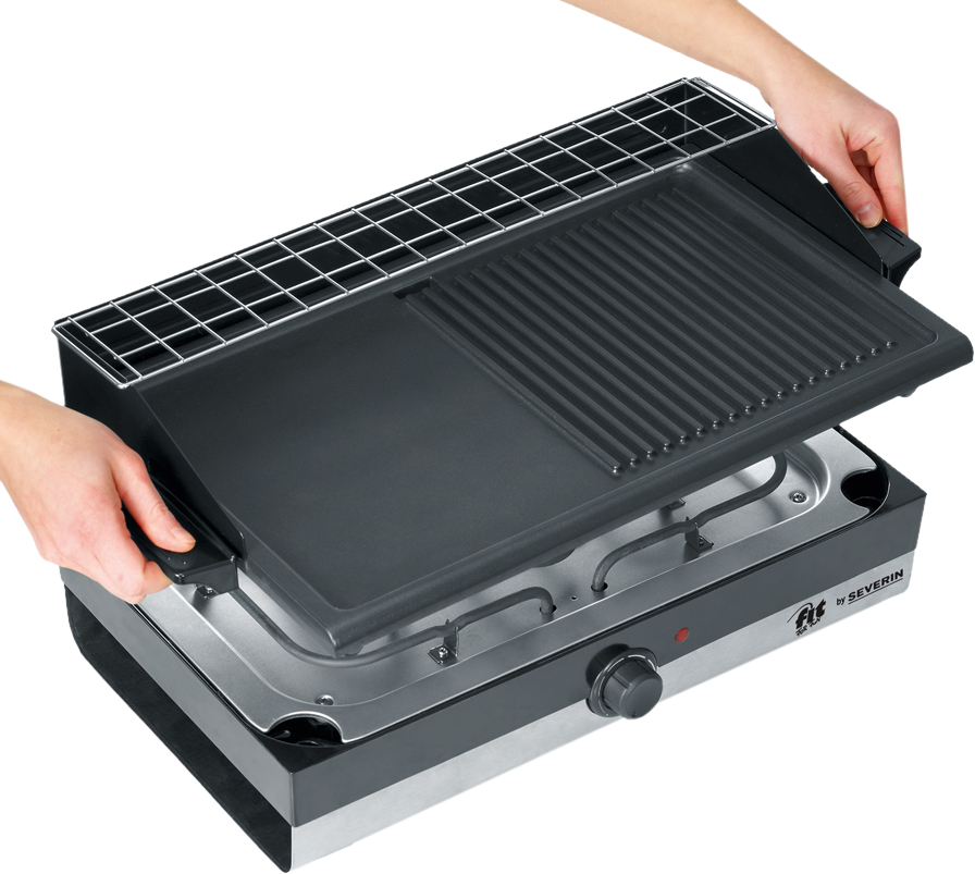severin pg 2367 barbecue grill 2200 w edelstahl schwarz g nstig kaufen elektrogrill. Black Bedroom Furniture Sets. Home Design Ideas