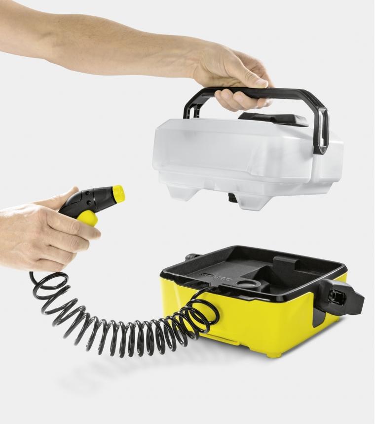 k rcher mobile outdoor cleaner oc 3 nettoyeur pression avec batterie lithium ion jaune. Black Bedroom Furniture Sets. Home Design Ideas